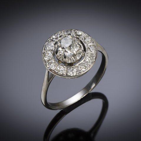 French Art Deco diamond ring (1.10 carat)