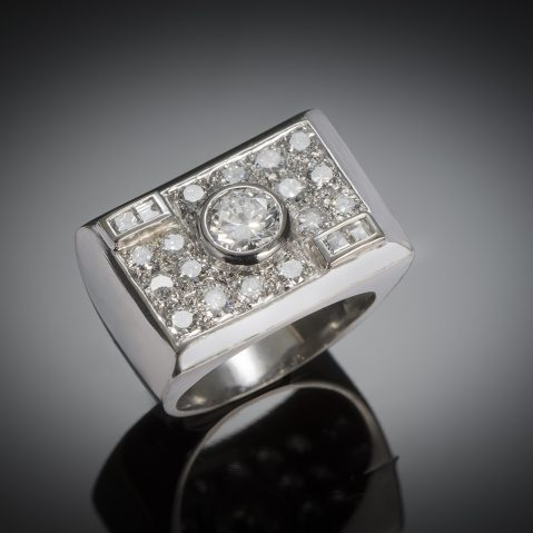 Modernist ring diamond circa 1935