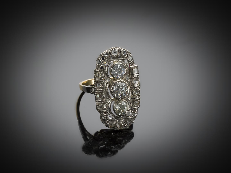 Bague diamants Art Déco (vers 1930)-1