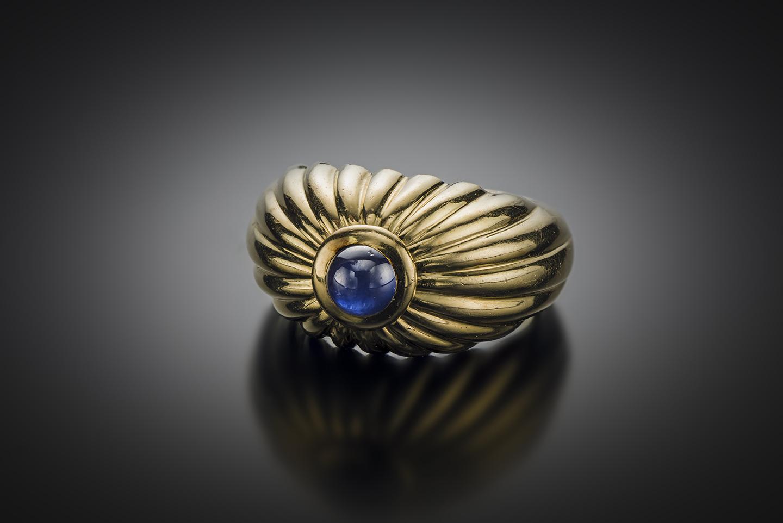 Bague Cartier saphir-1