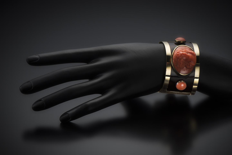 Bracelet corail et écaille de tortue Napoléon III (1851 – 1871)-2