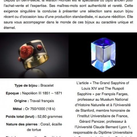 Newsletter Riondet Antiquaires # 1