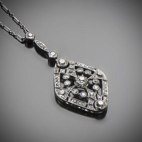 Pendentif diamants Art Déco (vers 1930)