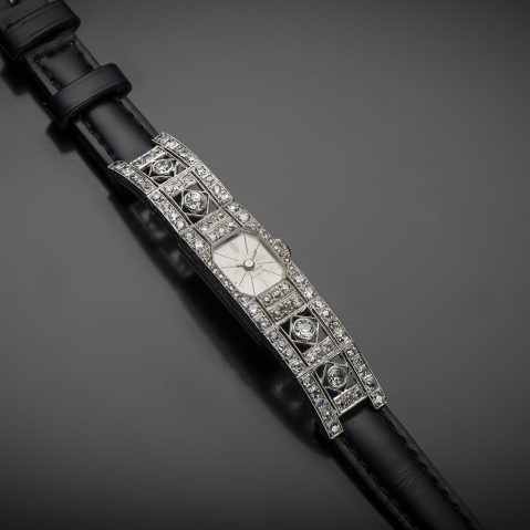 Montre diamants Art Déco (vers 1930)