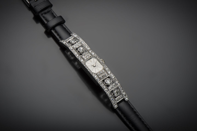 Montre diamants Art Déco (vers 1930)-1