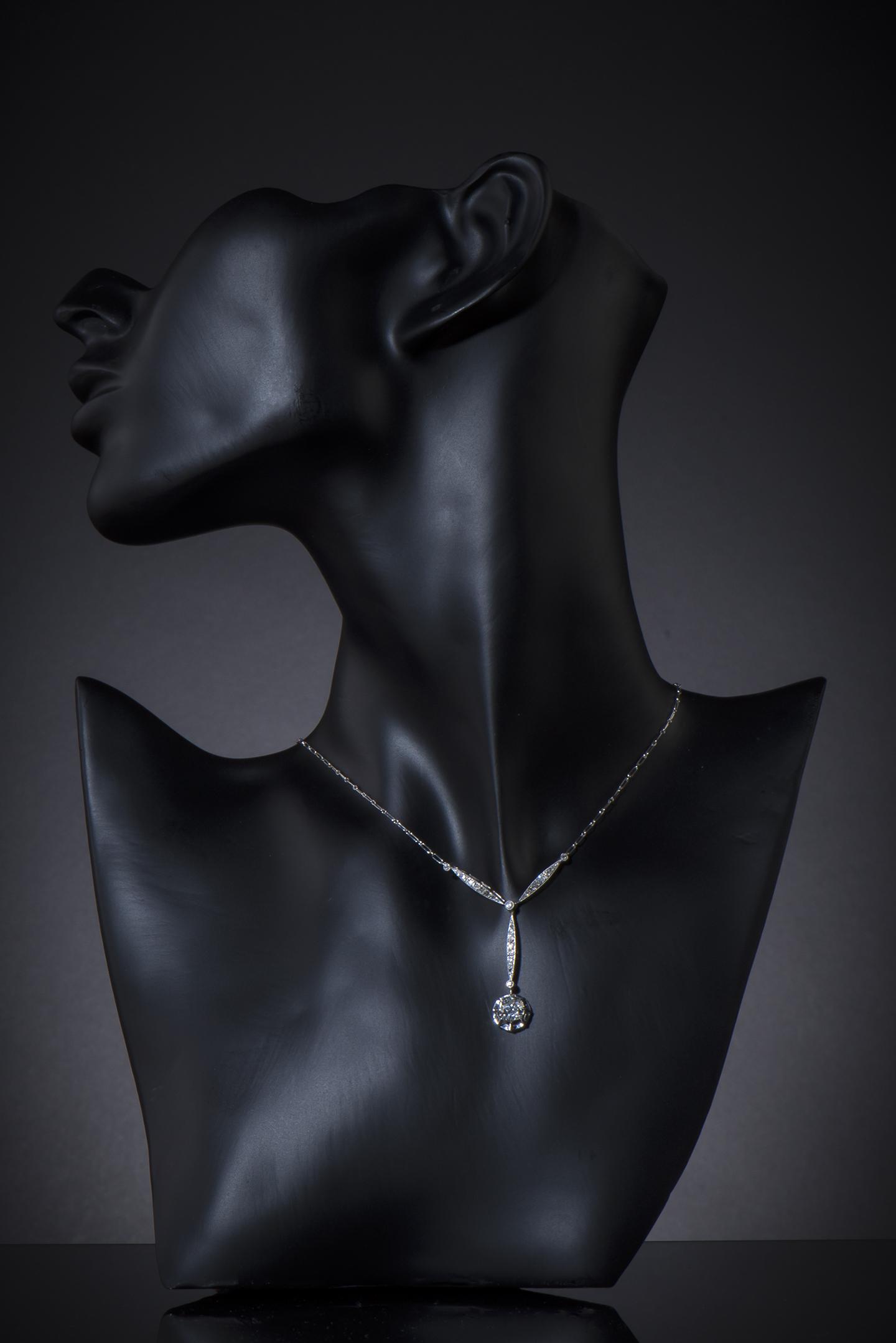 Collier diamants Art Déco (vers 1930)-2