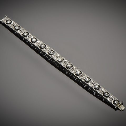 Bracelet diamants (4,30 carats) Art Déco