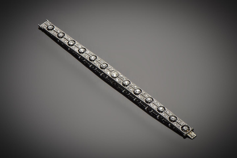 Bracelet diamants (4,30 carats) Art Déco-1