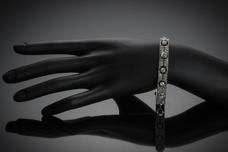 Bracelet diamants (4,30 carats) Art Déco-2