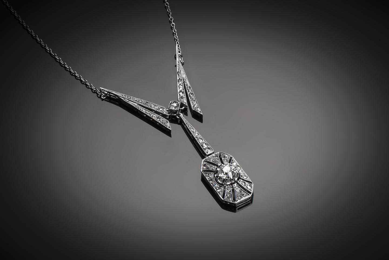 Pendentif diamants Art Déco (vers 1930)-1