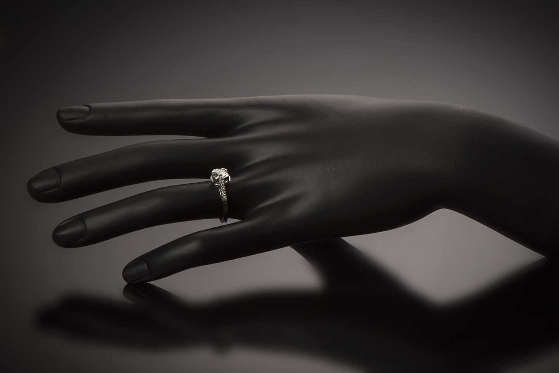 Bague solitaire diamants Art Déco (vers 1930)-2