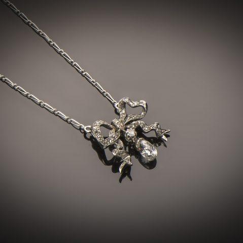Pendentif diamants Belle Epoque