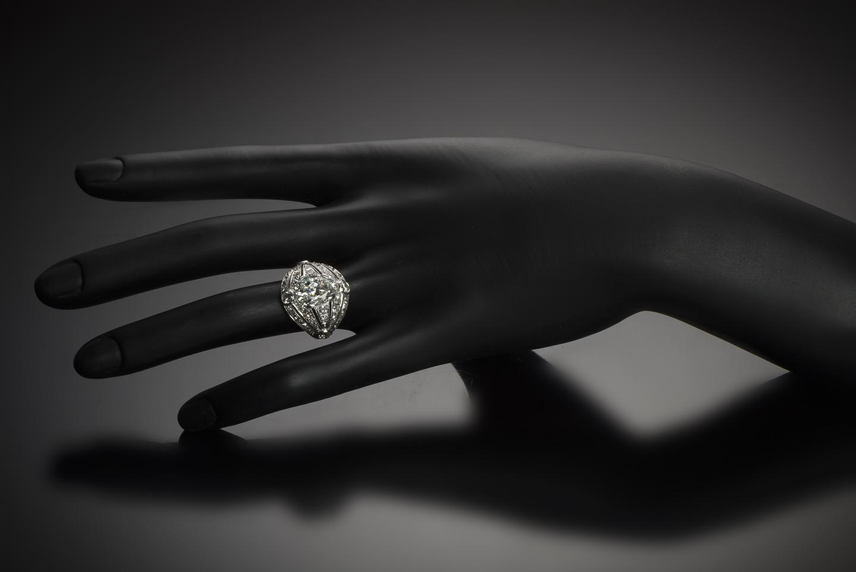 Bague diamants (5 carats) Art Déco-2