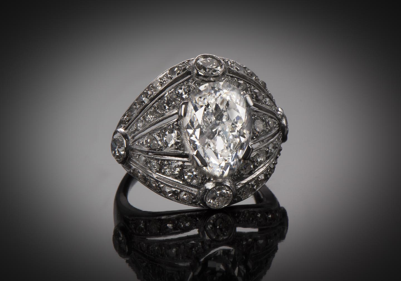 Bague diamants (5 carats) Art Déco-1