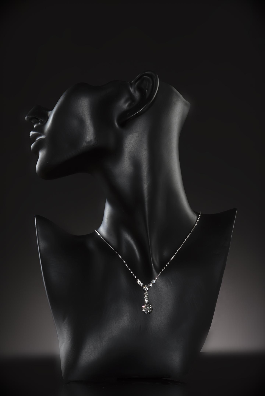 Pendentif diamants Art Déco (3 carats)-2
