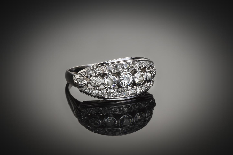 Bague diamants Art Déco (1,50 carat)-1