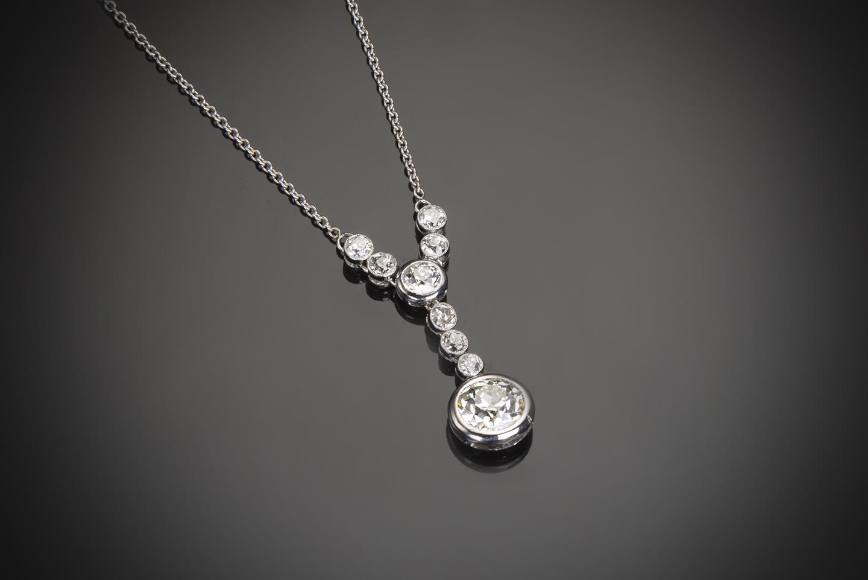 Pendentif diamants Art Déco (3 carats)-1