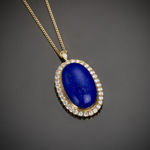Pendentif lapis-lazuli Mellerio dits Meller