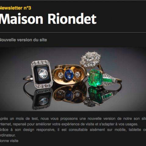 Newsletter Maison Riondet # 3