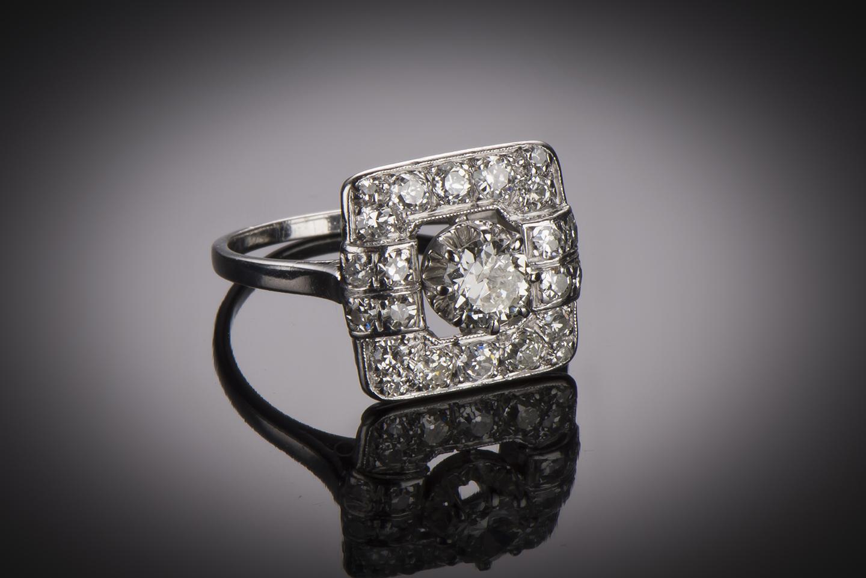 Bague diamants Art Déco-1