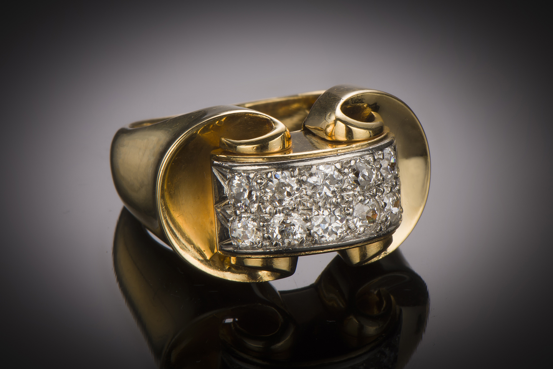 Bague diamants vers 1940-1
