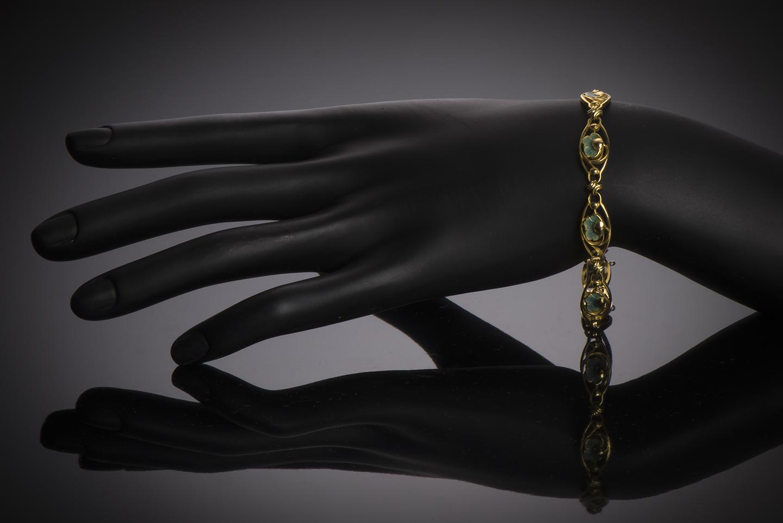 Bracelet émaillé Art nouveau (vers 1900)-2