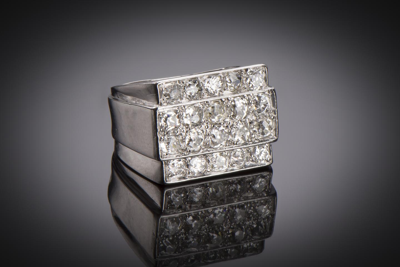 Bague Art Déco diamants (3 carats)-1