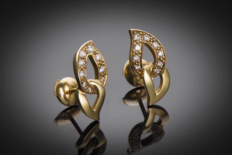 Boucles d'oreilles Piaget diamants-1