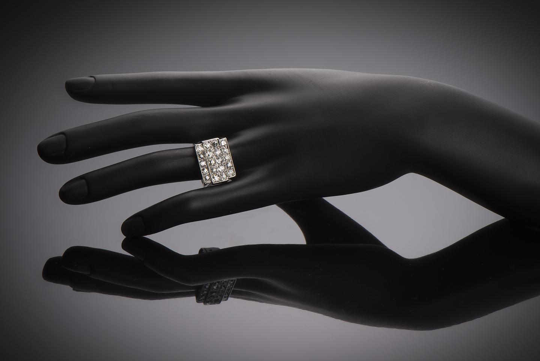 Bague Art Déco diamants (3 carats)-2