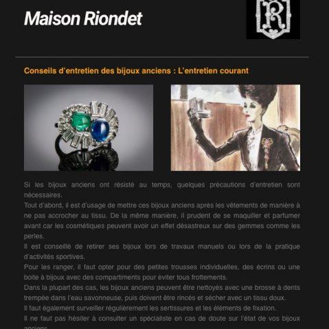 Newsletter Maison Riondet # 4