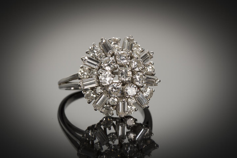 Bague diamants (2 carats) vers 1950-1