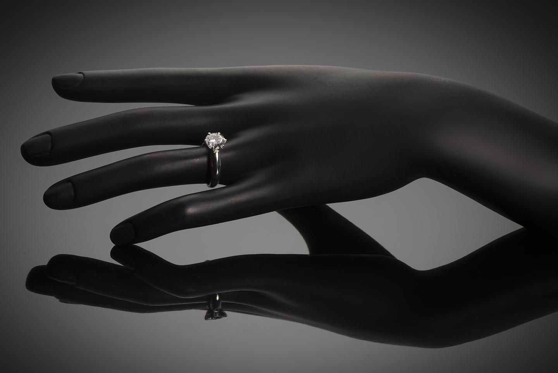 Bague solitaire diamant brillant 2,03 carats E VS (certificat LFG)-2
