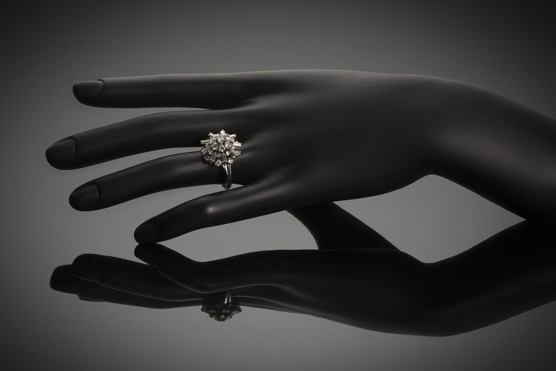 Bague diamants (2 carats) vers 1950-2