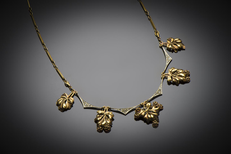 Collier diamants fin XIXe siècle-1