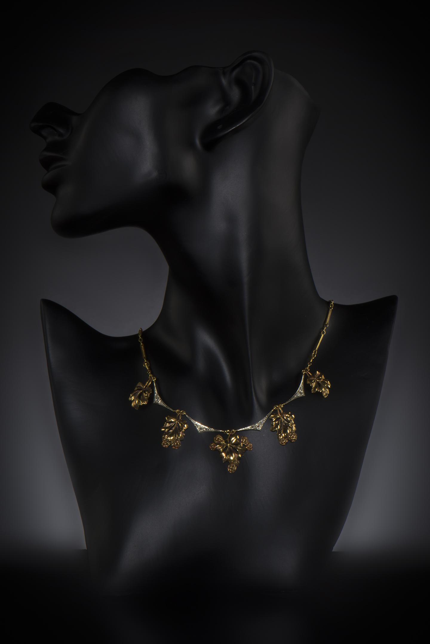 Collier diamants fin XIXe siècle-2