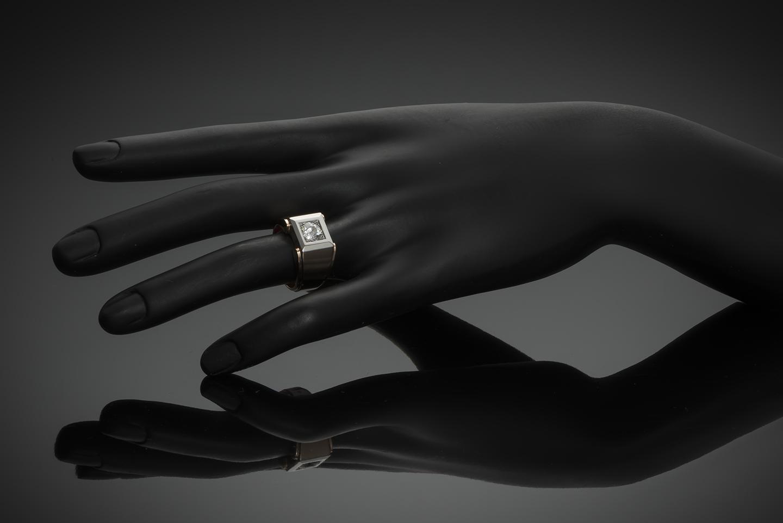 Bague Tank vers 1940 diamant (1 carat)-2