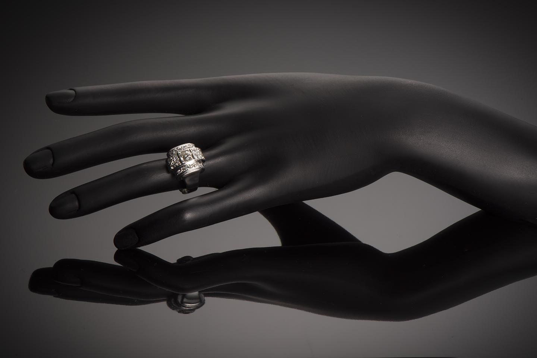Bague diamants Art Déco (1,80 carat)-2
