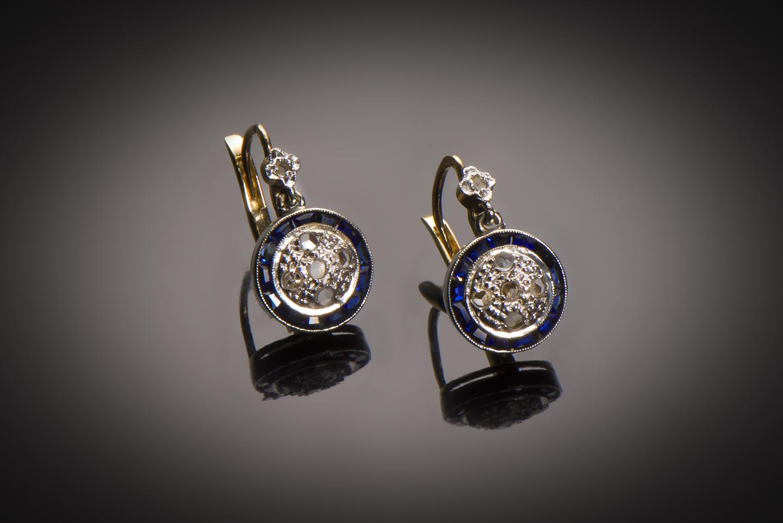 Boucles d'oreilles diamants Art Déco (vers 1930)-1
