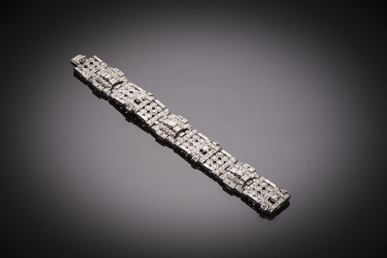 Bracelet diamants (13 carats) Art Déco-1