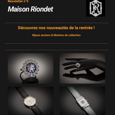 Newsletter Maison Riondet # 5