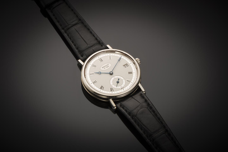 Montre Breguet classique date or gris-1