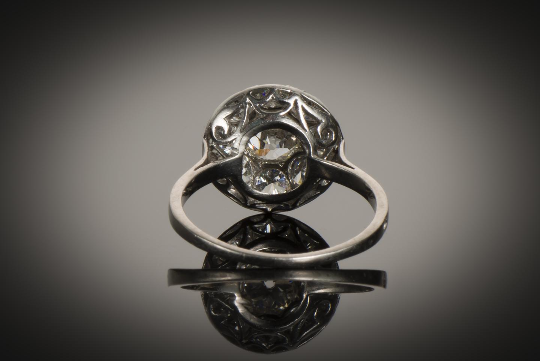 Bague Art Déco diamants (2 carats)-2