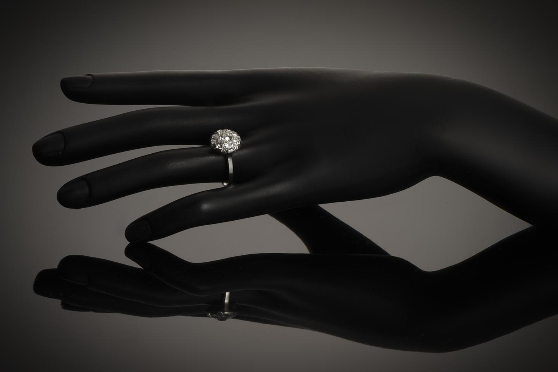 Bague Art Déco diamants (2 carats)-3