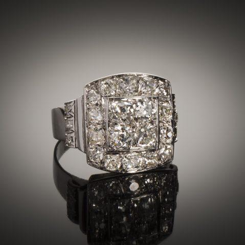 Bague diamants Art Déco (2,2 carats)