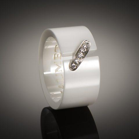 Bague Chaumet diamants céramique