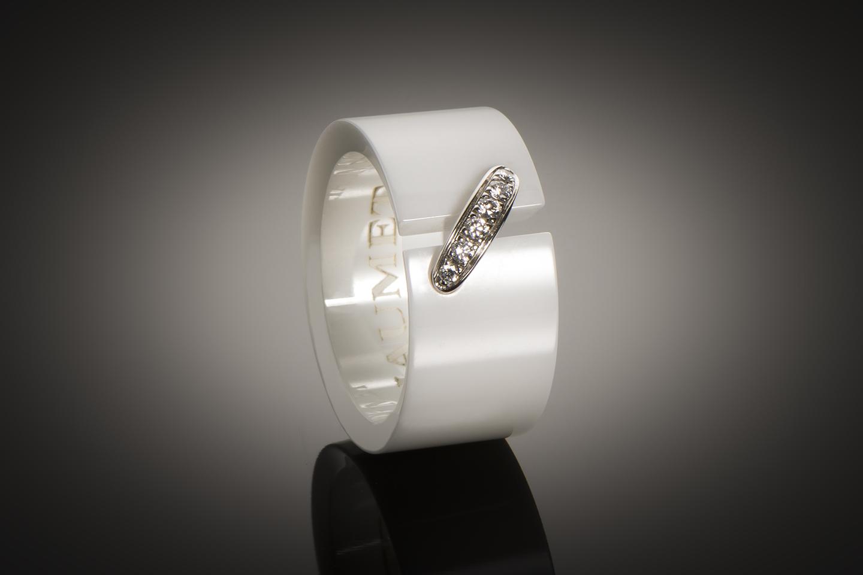 Bague Chaumet diamants céramique-1