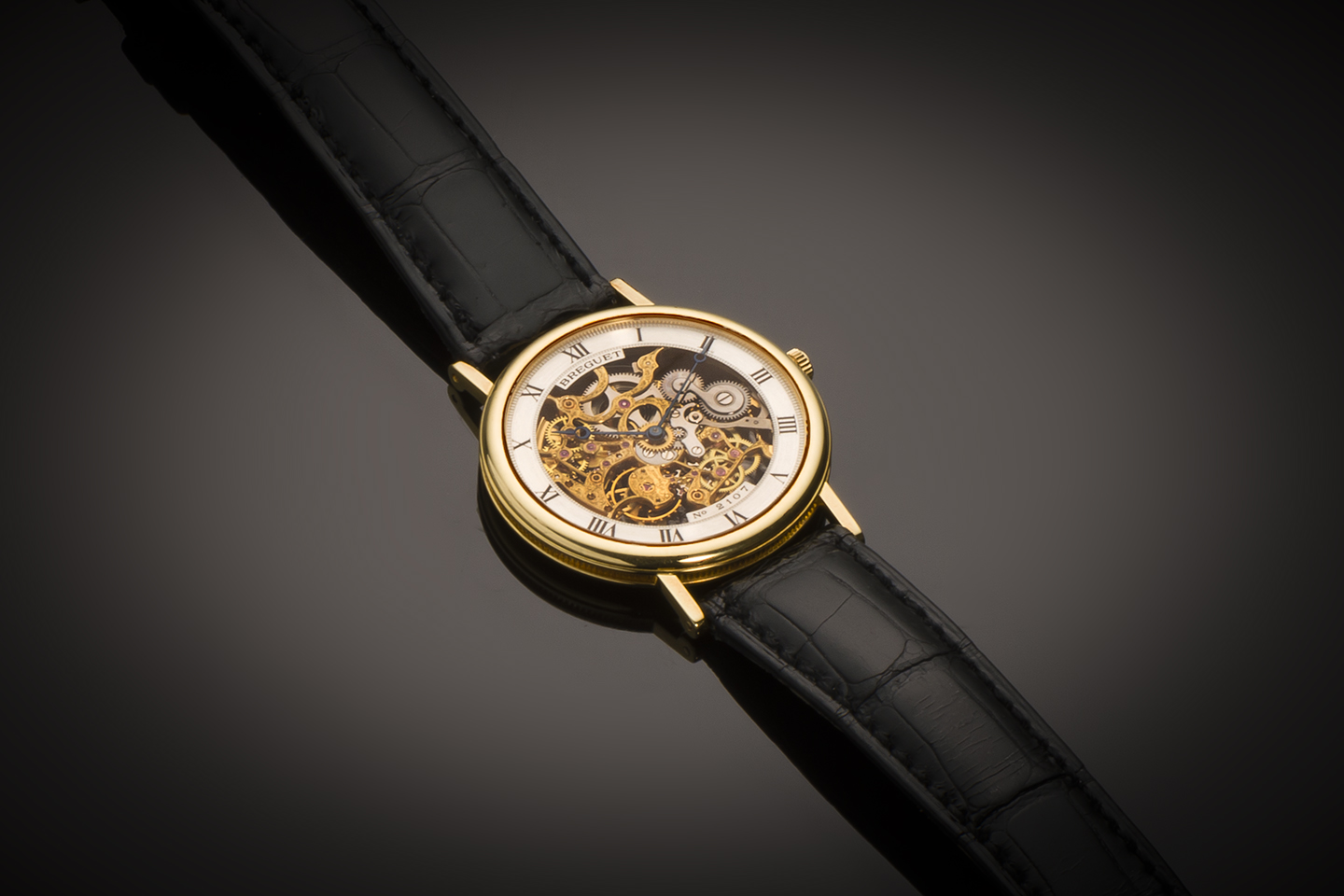 Montre Breguet squelette extra-plate or-1
