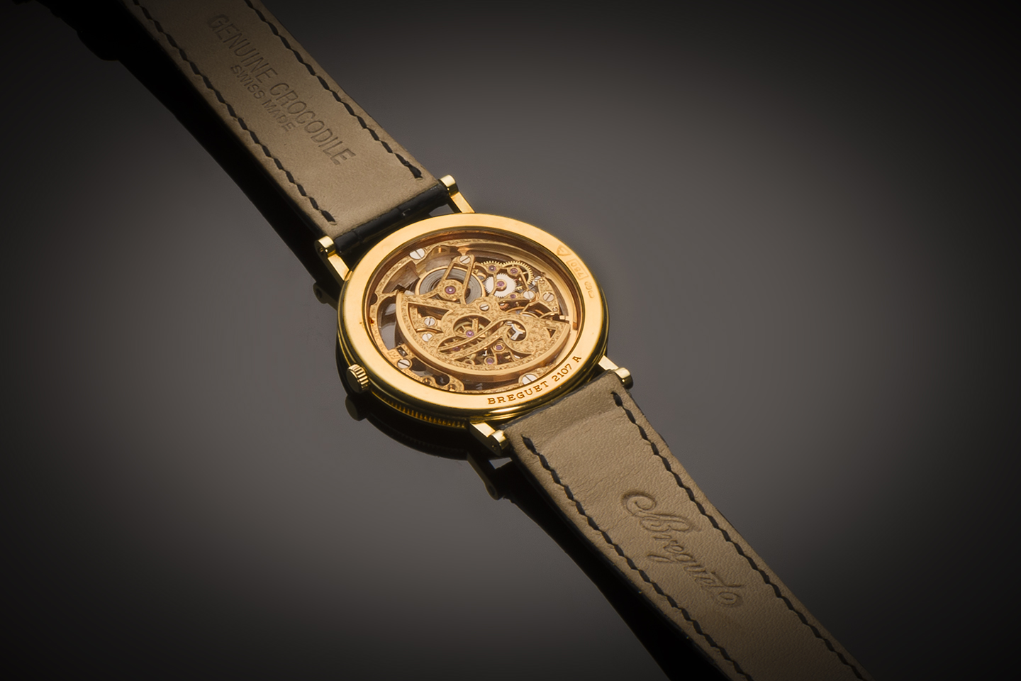 Montre Breguet squelette extra-plate or-2