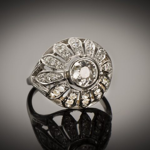 Bague Art Déco diamants (1,60 carat)