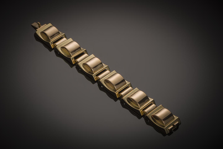 Bracelet « Tank » – Or 750/1000 – 90.9 gr – vers 1940-1
